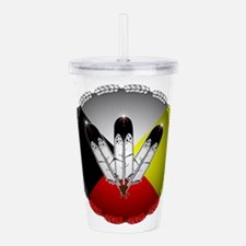 Three Eagle Feathers Acrylic Double-wall Tumbler