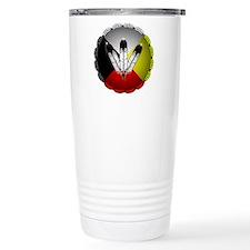 Three Eagle Feathers Travel Mug