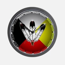Three Eagle Feathers Wall Clock