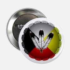 "Three Eagle Feathers 2.25"" Button (10 pack)"
