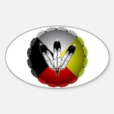 Three Eagle Feathers Decal