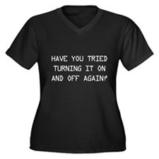 Turn on and off again? Plus Size T-Shirt