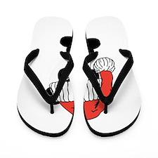 Santa Panda Bear Flip Flops