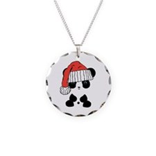 Santa Panda Bear Necklace