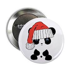 "Santa Panda Bear 2.25"" Button"