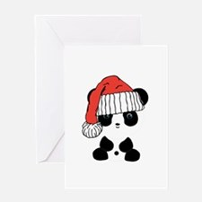 Santa Panda Bear Greeting Cards
