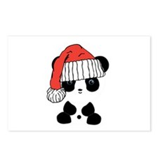 Santa Panda Bear Postcards (Package of 8)