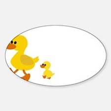 duck mama ans baby Decal