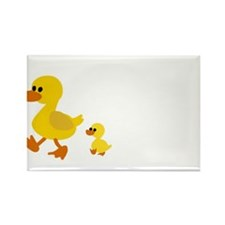 duck mama ans baby Magnets