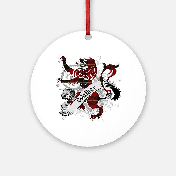 Walker Tartan Lion Ornament (Round)
