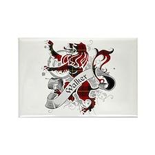 Walker Tartan Lion Rectangle Magnet