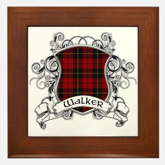 Walker Tartan Shield Framed Tile