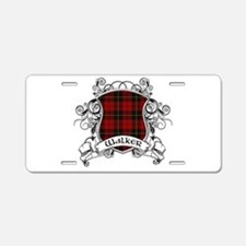Walker Tartan Shield Aluminum License Plate