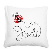 Ladybug Jodi Square Canvas Pillow