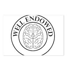Well endowed brain Postcards (Package of 8)
