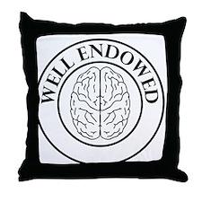 Well endowed brain Throw Pillow