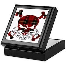 Walker Tartan Skull Keepsake Box