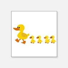 Baby duck family Sticker