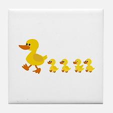 Funny Duck Tile Coaster
