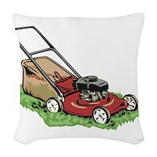 Lawnmower Woven Throw Pillow