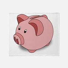 Piggy Bank Throw Blanket