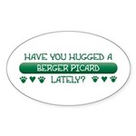 Hugged Berger Oval Sticker