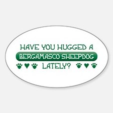 Hugged Bergamasco Oval Decal