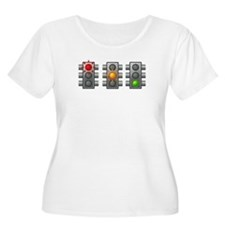 Traffic Lights Plus Size T-Shirt