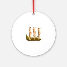 Three Meerkats Ornament (Round)
