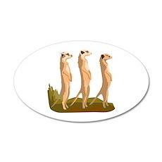Three Meerkats Wall Decal