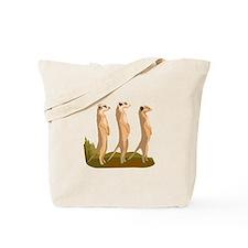 Three Meerkats Tote Bag