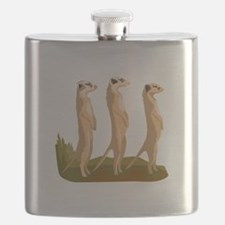 Three Meerkats Flask