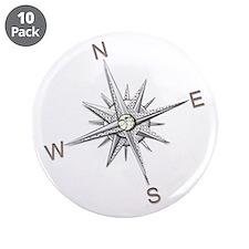 """Unique Nautical 3.5"""" Button (10 pack)"""