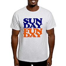 Sunday Funday Orange And Blue T-Shirt