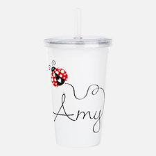 Ladybug Amy Acrylic Double-Wall Tumbler
