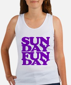 Sunday Funday Purple Tank Top