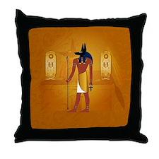 Anubis1 Throw Pillow