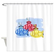 Funny Crayons Shower Curtain