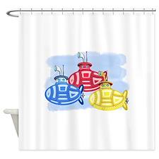 Unique Boats ships Shower Curtain