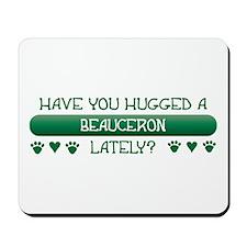 Hugged Beauceron Mousepad