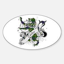 Taylor Tartan Lion Sticker (Oval)