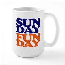 Sunday Funday Orange And Blue Mugs
