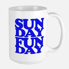 Sunday Funday Blue Mugs