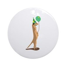 Meerkat Birthday Ornament (Round)