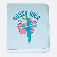 Costa Rica Parrot baby blanket