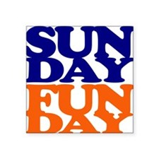Sunday Funday Orange And Blue Sticker