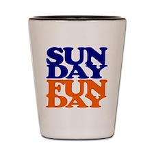 Sunday Funday Orange And Blue Shot Glass