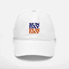 Sunday Funday Orange And Blue Baseball Baseball Baseball Cap
