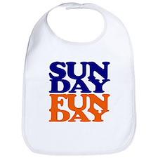Sunday Funday Orange And Blue Bib