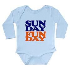 Sunday Funday Orange And Blue Body Suit